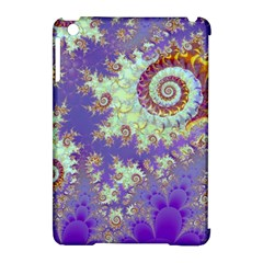 Sea Shell Spiral, Abstract Violet Cyan Stars Apple Ipad Mini Hardshell Case (compatible With Smart Cover)
