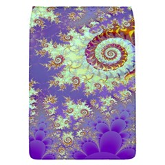 Sea Shell Spiral, Abstract Violet Cyan Stars Removable Flap Cover (Small)