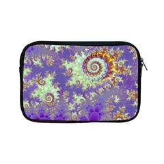 Sea Shell Spiral, Abstract Violet Cyan Stars Apple iPad Mini Zippered Sleeve