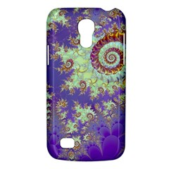 Sea Shell Spiral, Abstract Violet Cyan Stars Samsung Galaxy S4 Mini (gt I9190) Hardshell Case