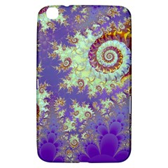 Sea Shell Spiral, Abstract Violet Cyan Stars Samsung Galaxy Tab 3 (8 ) T3100 Hardshell Case