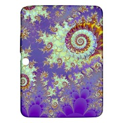 Sea Shell Spiral, Abstract Violet Cyan Stars Samsung Galaxy Tab 3 (10.1 ) P5200 Hardshell Case