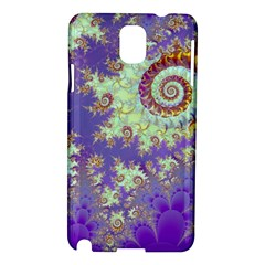 Sea Shell Spiral, Abstract Violet Cyan Stars Samsung Galaxy Note 3 N9005 Hardshell Case