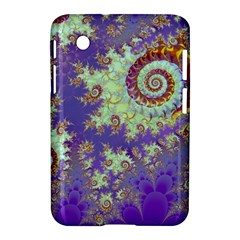 Sea Shell Spiral, Abstract Violet Cyan Stars Samsung Galaxy Tab 2 (7 ) P3100 Hardshell Case