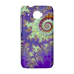 Sea Shell Spiral, Abstract Violet Cyan Stars HTC Desire 601 Hardshell Case