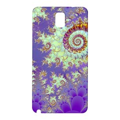 Sea Shell Spiral, Abstract Violet Cyan Stars Samsung Galaxy Note 3 N9005 Hardshell Back Case