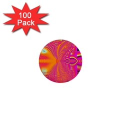 Magenta Boardwalk Carnival, Abstract Ocean Shimmer 1  Mini Button (100 pack)