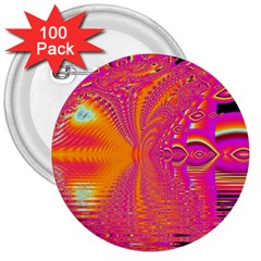 Magenta Boardwalk Carnival, Abstract Ocean Shimmer 3  Button (100 pack)