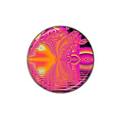 Magenta Boardwalk Carnival, Abstract Ocean Shimmer Golf Ball Marker (for Hat Clip)
