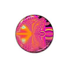 Magenta Boardwalk Carnival, Abstract Ocean Shimmer Golf Ball Marker 10 Pack (for Hat Clip)