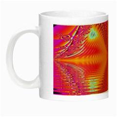 Magenta Boardwalk Carnival, Abstract Ocean Shimmer Glow in the Dark Mug