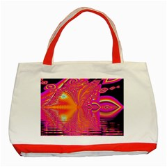 Magenta Boardwalk Carnival, Abstract Ocean Shimmer Classic Tote Bag (Red)