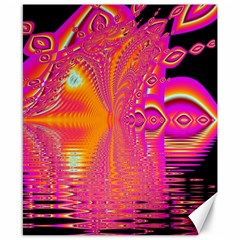 Magenta Boardwalk Carnival, Abstract Ocean Shimmer Canvas 8  x 10  (Unframed)