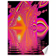 Magenta Boardwalk Carnival, Abstract Ocean Shimmer Canvas 36  x 48  (Unframed)