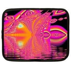 Magenta Boardwalk Carnival, Abstract Ocean Shimmer Netbook Sleeve (XXL)