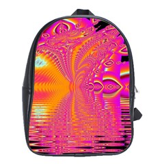 Magenta Boardwalk Carnival, Abstract Ocean Shimmer School Bag (Large)