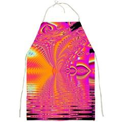 Magenta Boardwalk Carnival, Abstract Ocean Shimmer Apron