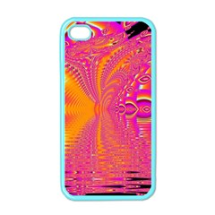 Magenta Boardwalk Carnival, Abstract Ocean Shimmer Apple Iphone 4 Case (color)