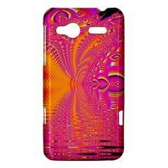 Magenta Boardwalk Carnival, Abstract Ocean Shimmer HTC Radar Hardshell Case