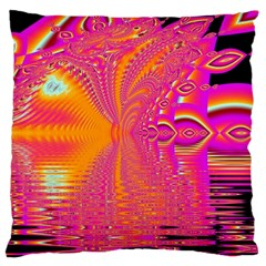 Magenta Boardwalk Carnival, Abstract Ocean Shimmer Large Cushion Case (two Sided)