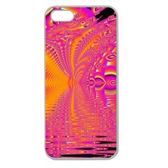 Magenta Boardwalk Carnival, Abstract Ocean Shimmer Apple Seamless iPhone 5 Case (Clear)