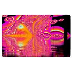 Magenta Boardwalk Carnival, Abstract Ocean Shimmer Apple iPad 3/4 Flip Case
