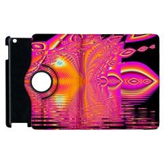 Magenta Boardwalk Carnival, Abstract Ocean Shimmer Apple iPad 2 Flip 360 Case