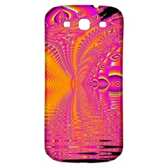 Magenta Boardwalk Carnival, Abstract Ocean Shimmer Samsung Galaxy S3 S III Classic Hardshell Back Case