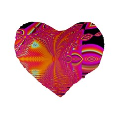Magenta Boardwalk Carnival, Abstract Ocean Shimmer 16  Premium Heart Shape Cushion