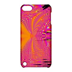 Magenta Boardwalk Carnival, Abstract Ocean Shimmer Apple iPod Touch 5 Hardshell Case with Stand