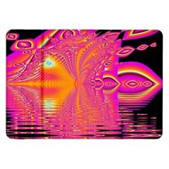 Magenta Boardwalk Carnival, Abstract Ocean Shimmer Samsung Galaxy Tab 8.9  P7300 Flip Case