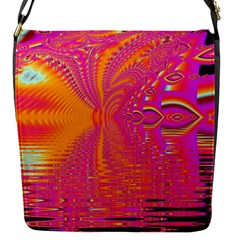 Magenta Boardwalk Carnival, Abstract Ocean Shimmer Removable Flap Cover (Small)