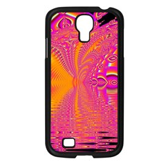 Magenta Boardwalk Carnival, Abstract Ocean Shimmer Samsung Galaxy S4 I9500/ I9505 Case (black)