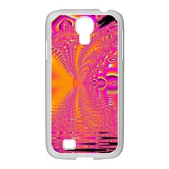 Magenta Boardwalk Carnival, Abstract Ocean Shimmer Samsung Galaxy S4 I9500/ I9505 Case (white)