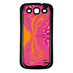 Magenta Boardwalk Carnival, Abstract Ocean Shimmer Samsung Galaxy S3 Back Case (Black)