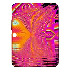 Magenta Boardwalk Carnival, Abstract Ocean Shimmer Samsung Galaxy Tab 3 (10.1 ) P5200 Hardshell Case