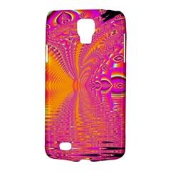 Magenta Boardwalk Carnival, Abstract Ocean Shimmer Samsung Galaxy S4 Active (I9295) Hardshell Case