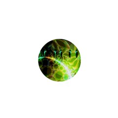 Dawn Of Time, Abstract Lime & Gold Emerge 1  Mini Button Magnet