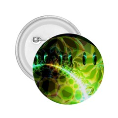 Dawn Of Time, Abstract Lime & Gold Emerge 2 25  Button