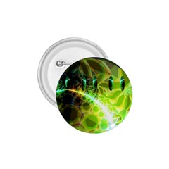 Dawn Of Time, Abstract Lime & Gold Emerge 1.75  Button