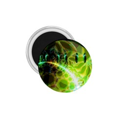 Dawn Of Time, Abstract Lime & Gold Emerge 1.75  Button Magnet