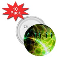 Dawn Of Time, Abstract Lime & Gold Emerge 1.75  Button (10 pack)