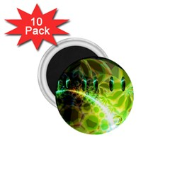Dawn Of Time, Abstract Lime & Gold Emerge 1 75  Button Magnet (10 Pack)