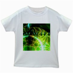 Dawn Of Time, Abstract Lime & Gold Emerge Kids T Shirt (white)