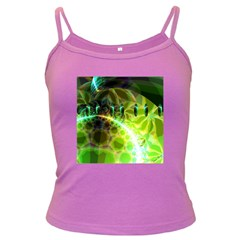 Dawn Of Time, Abstract Lime & Gold Emerge Spaghetti Top (Colored)