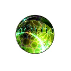 Dawn Of Time, Abstract Lime & Gold Emerge Golf Ball Marker 4 Pack (for Hat Clip)