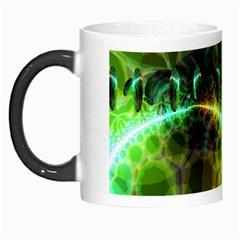 Dawn Of Time, Abstract Lime & Gold Emerge Morph Mug