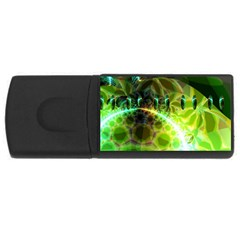 Dawn Of Time, Abstract Lime & Gold Emerge 4gb Usb Flash Drive (rectangle)