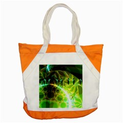 Dawn Of Time, Abstract Lime & Gold Emerge Accent Tote Bag