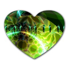 Dawn Of Time, Abstract Lime & Gold Emerge Mouse Pad (Heart)